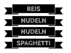 Praktische Küchen-Etiketten zum Ausdrucken