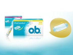 Tampons-Probierset von o.b. gratis bestellen