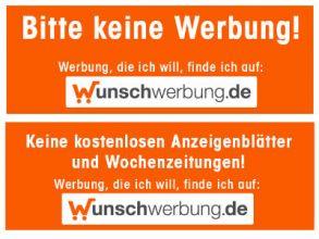 """Briefkastenaufkleber """"Bitte keine Werbung"""" gratis"""