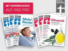 """3 Ausgaben """"Stiftung Warentest"""" und """"Finanztest"""" gratis!"""