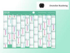 Deutscher Bundestag: Kostenloser Kalender 2018