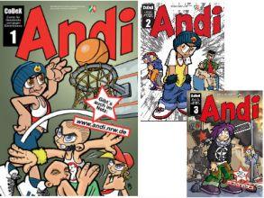 """3 gratis """"Andi"""" Comics bestellen"""