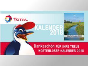 """Gratis TOTAL Kalender """"Deutschlandreise"""" 2018"""
