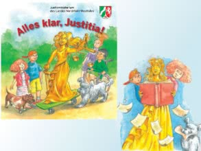 "Kinderbuch ""Alles klar, Justitia!"" kostenlos"