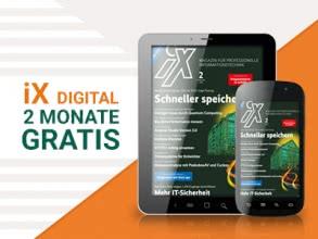 "Computerzeitschrift ""iX digital"" 2 Monate gratis"