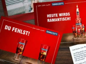 Verschickt gratis Ramazzotti-Postkarten an eure Liebsten