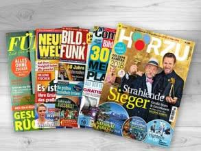 1 von 10 Zeitschriften-Jahresabos gratis bestellen!
