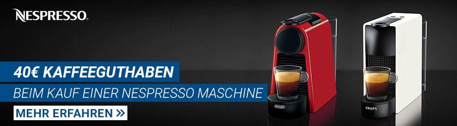 Nespresso: 40€-Kaffeeguthaben