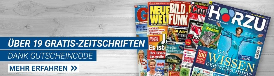 Über 19 Gratis-Zeitschriften
