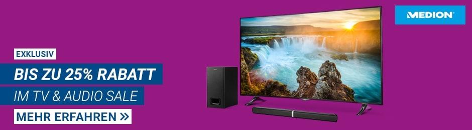 TV- & Audio-Sale bei Medion