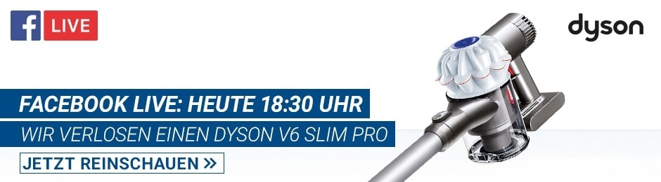 Facebook Live: Dyson V6 Slim Pro für 249€