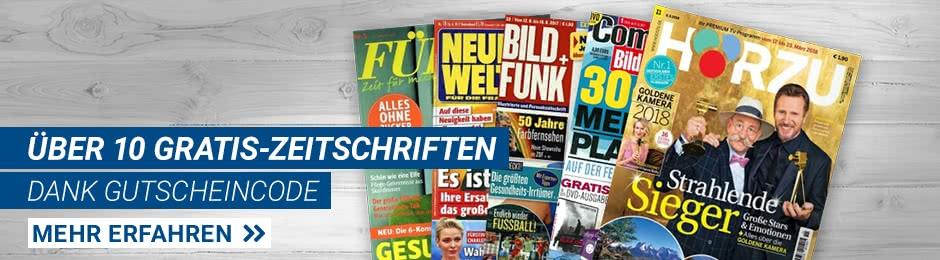 Gartis Zeitschriften-Jahresabo