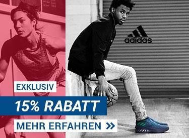 15%-Rabatt bei adidas