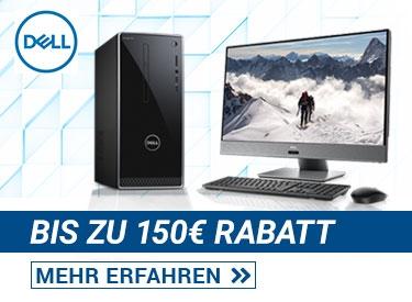 Bis zu 150€ Rabatt bei Dell