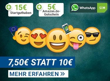 WhatsApp Sim 2,50€ sparen