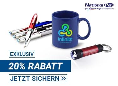 20% bei National Pen