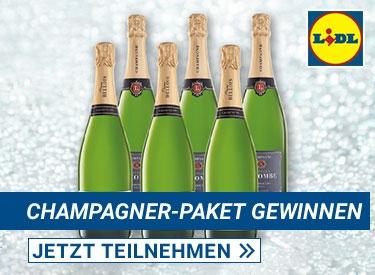 Lidl-Gewinnspiel Champagner