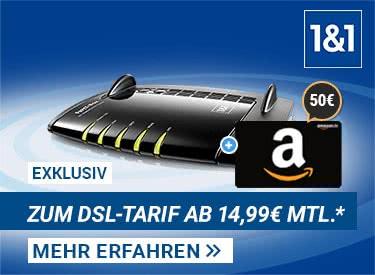1&1 DSL-Wechsel: 50€ Gutschein