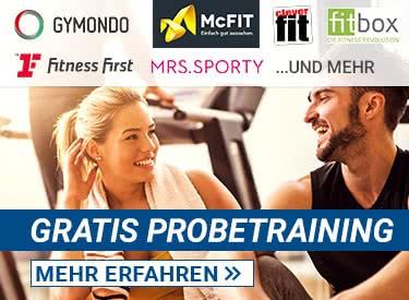 Gratis Probetrainings in Fitnessstudios