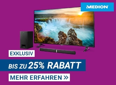 TV & Audio-Sale bei Medion