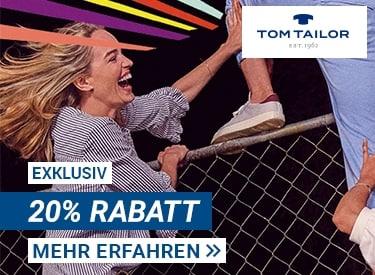 Tom Tailor: 20% Rabatt auf alles
