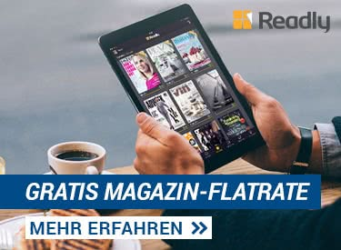 "Magazin-Flatrate ""Readly"" 1 Monat GRATIS"