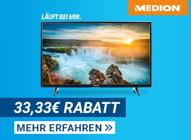 33,33€ Rabatt bei Medion