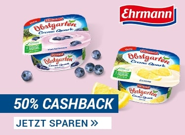 50% Cashback auf Cremequark