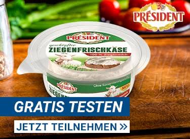 Président Ziegenfrischkäse gratis