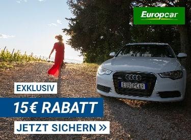15€ Rabatt bei Europcar