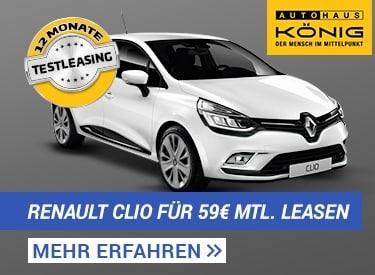 Autohaus König: Renault Clio für 59€ mtl.