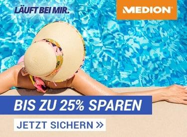Bis zu 25% Rabatt bei Medion