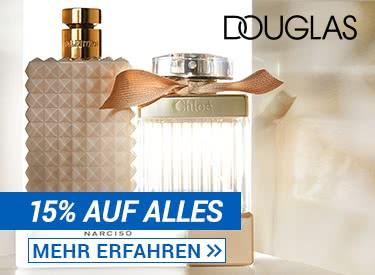 15% auf alles bei Douglas