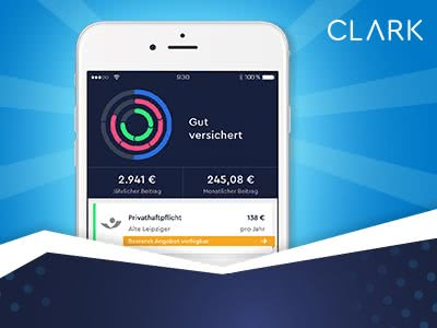 Clark: Versicherungen managen und bis zu 150€ sichern