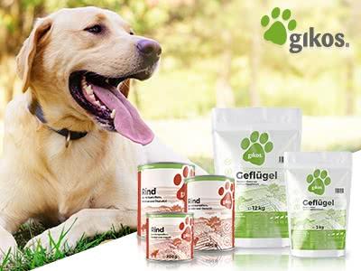 12% Rabatt auf Premiumnahrung für Hunde bei gikos!
