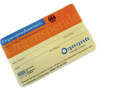Gratis: Organspendeausweis als Plastikkarte