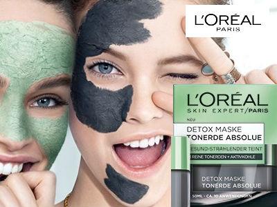Gratisprobe von L'Oréal: Detox Maske Tonerde