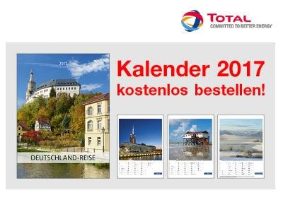 Kostenlosen Jahreskalender 2017 bei TOTAL bestellen
