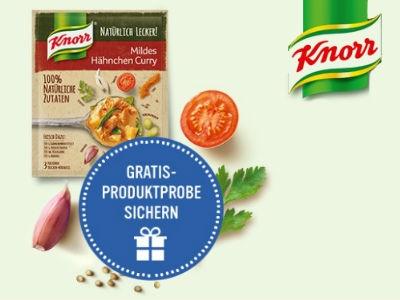 Knorr Mildes Hähnchen Curry als gratis Produktprobe