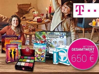 Spielepaket im Wert von 650€ bei der Telekom gewinnen!