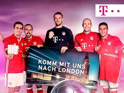 Fliegt mit dem FC Bayern München-Stars nach London!