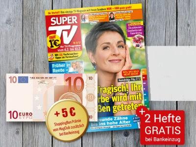 """12 Hefte """"Super TV"""" mit effektiv 3,60€ Gewinn"""