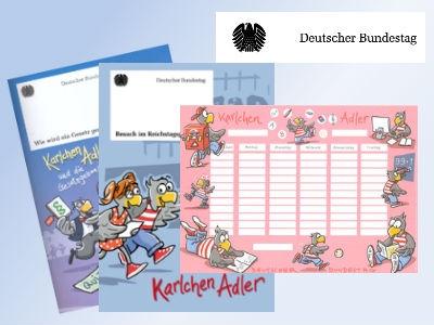 Kindercomics & Stundenplan gratis bestellen