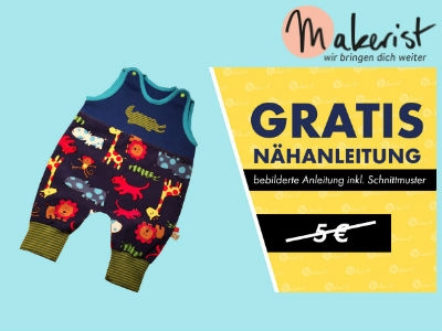 Makerist: Gratis Nähanleitung für Strampler