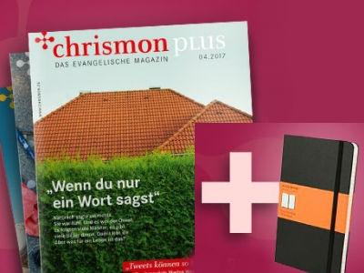 Moleskine-Notizbuch (Wert 12,90€) + 3x Chrismon-Magazin