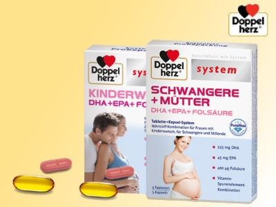 Doppelherz: Gratisprobe für Schwangere & Mütter