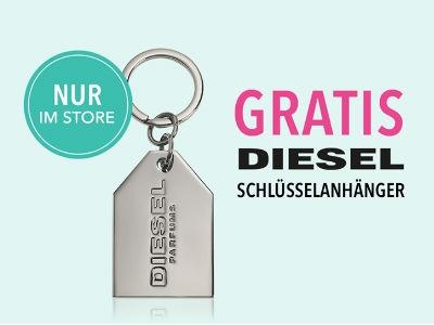 Gratis-Coupon für Diesel-Schlüsselanhänger bei Douglas