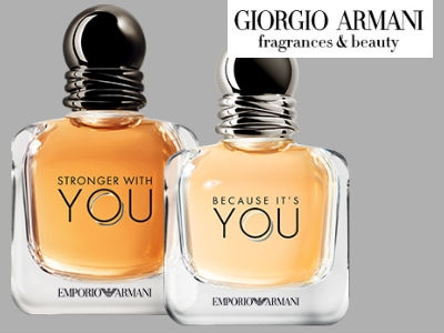 """Duftprobe Armani """"because it's you"""" & """"stronger with you"""""""