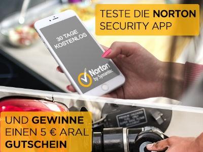Norton App downloaden, 1 von 5.555 Aral-Gutscheinen sichern!