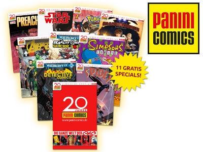 Panini: 11 Comics gratis zum 20. Geburtstag